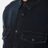 MSGM Men's MSGM Reflective Logo Back Denim Shirt - Black: Image 5
