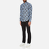 MSGM Men's Multi Logo Print Long Sleeve Shirt - Blue: Image 4