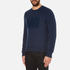 AMI Men's Crew Neck Sweatshirt - Night Blue: Image 2