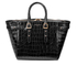 Aspinal of London Women's Marylebone Medium Croc Tote - Black Croc: Image 1