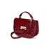 Aspinal of London Women's Letterbox Croc Saddle Bag - Bordeaux: Image 3