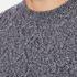 Barbour Heritage Men's Barnard Cable Knitted Jumper - Denim Mix: Image 5