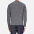 Barbour Heritage Men's Barnard Cable Knitted Jumper - Denim Mix: Image 3