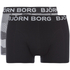 Bjorn Borg Men's Twin Pack Camo Print Boxer Shorts - Black: Image 1