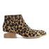 Alexander Wang Women's Kori Leopard Printed Haircalf Ankle Boots - Black/Natural: Image 1