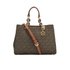 MICHAEL MICHAEL KORS Cynthia Medium Satchel - Brown: Image 1