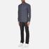 GANT Men's Small Indigo Tartan Shirt - Indigo: Image 4