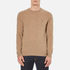 GANT Men's Donegal Crew Neck Knitted Jumper - Dark Sand Melange: Image 1