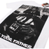 Star Wars Vader Father Photo Heren T-Shirt - Wit: Image 2