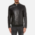 HUGO Men's Lesson Leather Biker Jacket - Black: Image 1