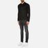 HUGO Men's Delato Long Sleeve Mercerised Polo Shirt - Black: Image 4