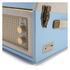GPO Retro Bermuda Classic Style Turntable with MP3, USB, Built-In Speakers and Removable Legs - Blue/Cream: Image 5