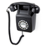 GPO Retro 746 Push Button Wall Telephone - Black: Image 1