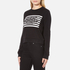 Cheap Monday Women's Win Stripe Logo Sweatshirt - Black: Image 2