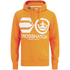 Crosshatch Men's Quon Kangeroo Pocket Hoody - Orange Pepper: Image 1