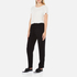 Theory Women's Tralpin Admiral Crepe Light Trousers - Black: Image 4