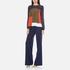 Diane von Furstenberg Women's Raegan Top - Midnight/Orange: Image 4