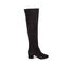 Dune Women's Sanford Suede Thigh High Heeled Boots - Black: Image 1