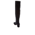 Dune Women's Sanford Suede Thigh High Heeled Boots - Black: Image 4