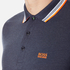 BOSS Green Men's Plisy Long Sleeve Polo Shirt - Blue: Image 5
