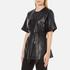 Gestuz Women's Sash Leather Kimono - Black: Image 2
