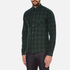 J.Lindeberg Men's Daniel Soft Check Shirt - Green: Image 2