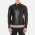 J.Lindeberg Men's Trey Leather Jacket - Black: Image 1