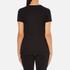 Helmut Lang Women's Medium Weight Cotton Jersey Slash Hem T-Shirt - Black: Image 3