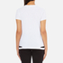 Helmut Lang Women's Medium Weight Cotton Jersey Slash Hem T-Shirt - White: Image 3