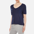 T by Alexander Wang Women's Classic Cropped T-Shirt with Chest Pocket - Marine: Image 2