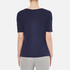 T by Alexander Wang Women's Classic Cropped T-Shirt with Chest Pocket - Marine: Image 3