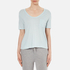 T by Alexander Wang Women's Classic Cropped T-Shirt with Chest Pocket - Wave: Image 1