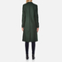 PS by Paul Smith Women's Double Breasted Wool Cashmere Coat - Green: Image 3