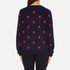 PS by Paul Smith Women's Heart Intarsia Jumper - Navy: Image 3
