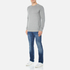 BOSS Orange Men's Wheel Crew Neck Sweatshirt - Grey: Image 4