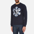 Versus Versace Men's Large Logo Crew Sweatshirt - Blu-Stampa: Image 2