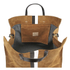 Clare V. Women's Supreme Simple Tote Bag - Camel Suede With Black/White Stripes: Image 5