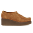 Clarks Originals Women's Peggy Bee Platform Shoes - Cola Suede: Image 1