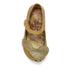 Mini Melissa Vivienne Westwood Toddlers' Ultragirl 16 Ballet Flats - Gold Glitter: Image 3