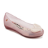 Mini Melissa Kids' Alice Ultragirl Ballet Flats - Blush Heart: Image 2