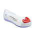 Mini Melissa Kids' Alice Ultragirl Ballet Flats - Clear Heart: Image 2
