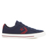 Converse CONS Men's Star Player Canvas Ox Trainers - Obsidian/Red Block/Black: Image 1
