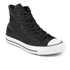Converse Women's Chuck Taylor All Star Sting Ray Leather Hi-Top Trainers - Black/Black/White: Image 2