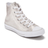 Converse Women's Chuck Taylor All Star Sting Ray Leather Hi-Top Trainers - Pure Silver/Black/White: Image 2