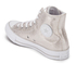 Converse Women's Chuck Taylor All Star Sting Ray Leather Hi-Top Trainers - Pure Silver/Black/White: Image 4
