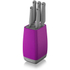 Morphy Richards 971264 Chroma 5 Piece Knife Block - Orchid: Image 1