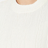 Maison Scotch Women's High Neck Sweatshirt With Special Textured Woven Front - White: Image 5