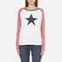 Maison Scotch Women's Long Sleeve Baseball T-Shirt with Cool Artworks - White: Image 1