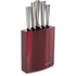 Morphy Richards 974815 Accents 5 Piece Knife Block - Red: Image 1