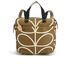 Orla Kiely Women's Linear Stem Print Small Backpack - Camel: Image 1